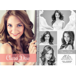 5.5x8.5 Model Model Comp Cards (One Side Color, One Side Black and White)